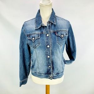 Levi's Jean Trucker Jacket Cotton Denim Med Wash